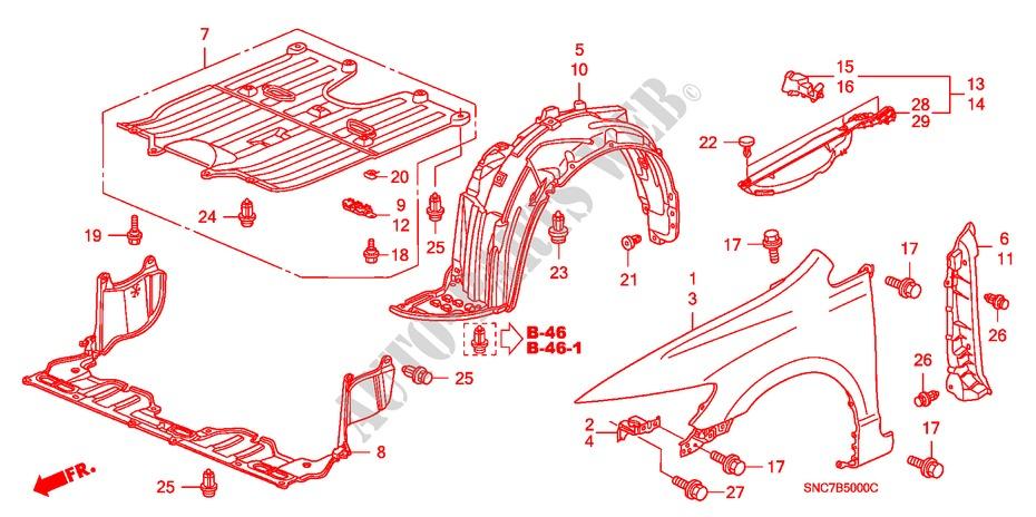 Front Fenders For Honda Cars Civic Hybrid Mx 4 Doors Full Automatic 2006   Honda Cars