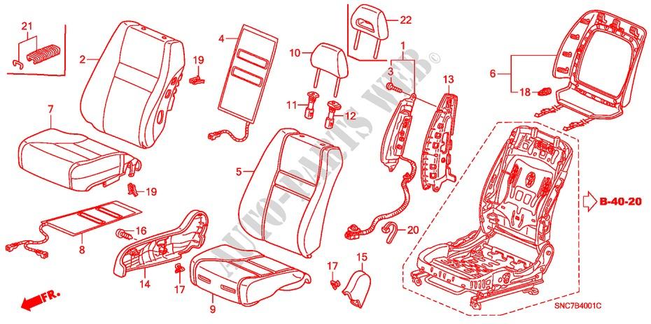 Honda Genuine 81128-SNB-J13ZE Seat Back Cover