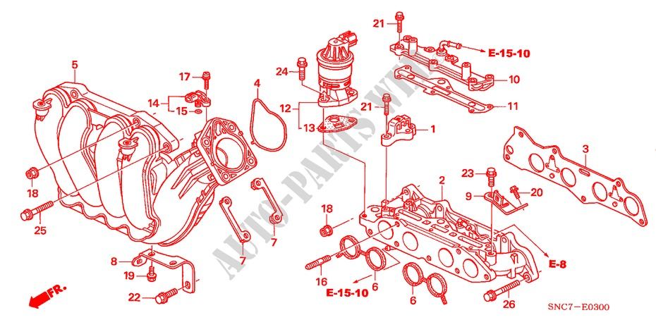 Genuine Honda Intake Manifold Stay 17132-RMX-000
