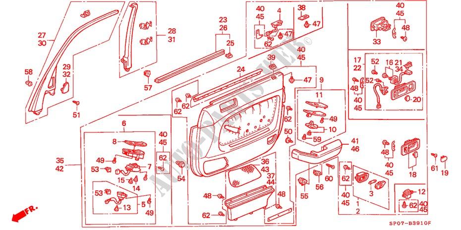 Honda Genuine 72335-SE3-000 Door Weatherstrip