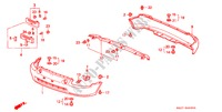 BUMPERS for Honda Cars CIVIC CRX ESI 2 Doors 4 speed automatic 1996