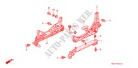 SEAT COMPONENTS (L.) for Honda Cars CIVIC CRX ESI 2 Doors 4 speed automatic 1996