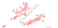 SEAT COMPONENTS (R.) for Honda Cars CIVIC CRX ESI 2 Doors 4 speed automatic 1996