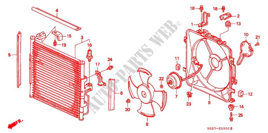 air conditioner condenser accessories esi 1995 civic crx honda cars rh parts honda uk 2008 honda civic air conditioning wiring diagram 2008 honda civic air conditioning wiring diagram