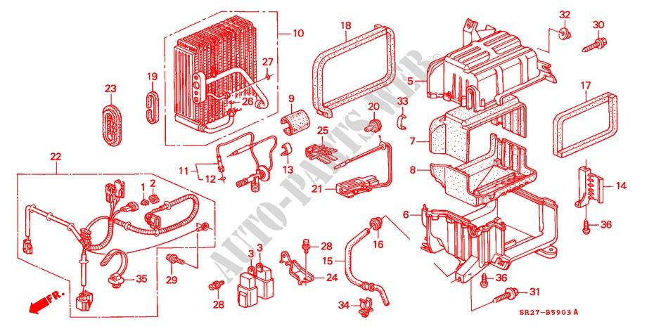 air conditioner cooling unit rh 94 body parts esi 1995 civic crx rh parts honda uk 2008 honda civic air conditioning wiring diagram 2002 honda civic air conditioning wiring diagram