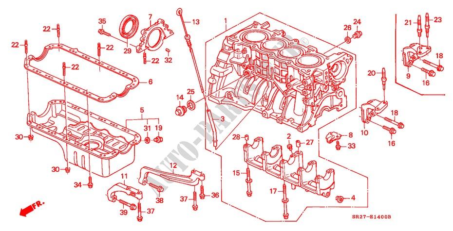 Cylinder Block  Oil Pan  Sohc    U0026 39 95  For Honda Cars Civic Crx Esi 2 Doors 5 Speed Manual 1995