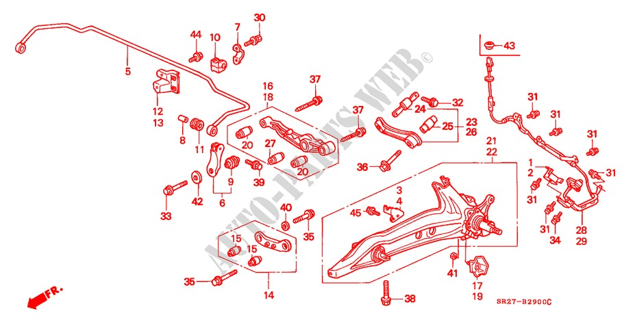 REAR STABILIZER/ REAR LOWER ARM for Honda Cars CIVIC CRX ESI 2 Doors 4 speed automatic 1996