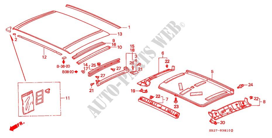 Roof Panel For Honda Cars Civic Crx Vti 2 Doors 5 Speed Manual 1994   Honda Cars