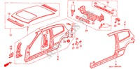 BODY STRUCTURE COMPONENTS (OUTER PANEL) for Honda Cars CIVIC VTI 3 Doors 5 speed manual 1993