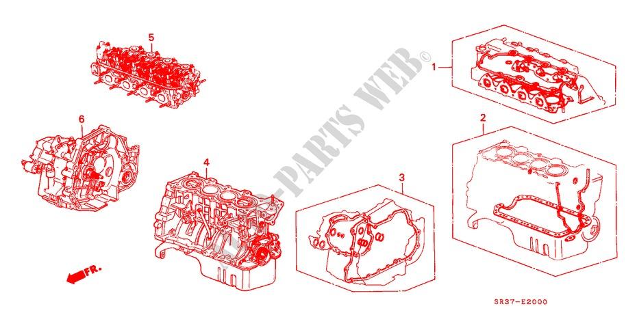 GASKET KIT TRANSMISSION ASSY Honda Cars CIVIC 1993 DXI 5 speed manual E__2000 gasket kit transmission assy engine dxi 1993 civic honda cars
