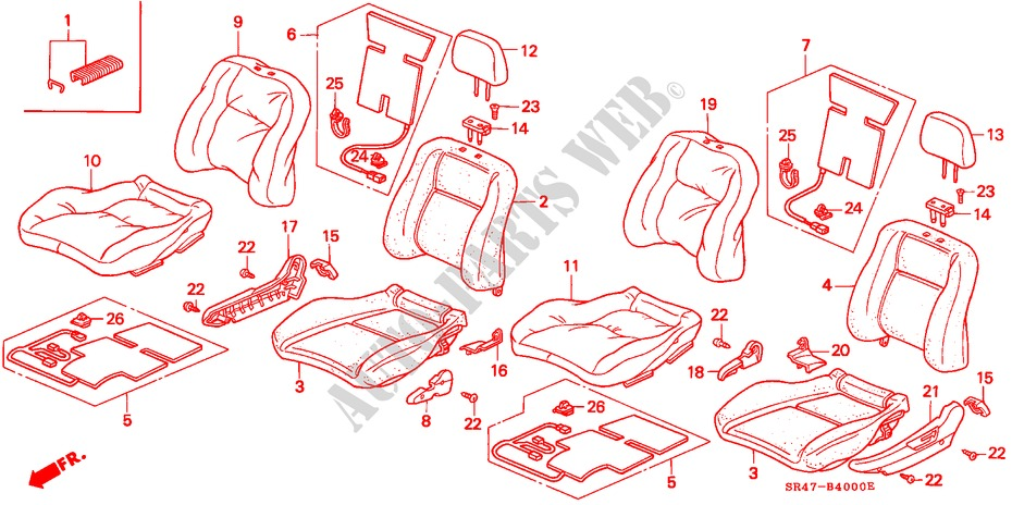 Genuine Hyundai 89495-29871-EEP Seat Back Cover and Pad