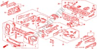 BODY STRUCTURE COMPONENTS (FRONT BULKHEAD) BODY PARTS CIVIC COUPE honda-cars 1994 BASIC B__4900