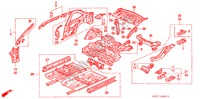 BODY STRUCTURE COMPONENTS (INNER PANEL) BODY PARTS CIVIC COUPE honda-cars 1994 BASIC B__4910