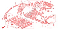 BODY STRUCTURE COMPONENTS (2) for Honda Cars PRELUDE 2.0I 2 Doors 5 speed manual 1993