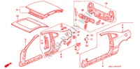 BODY STRUCTURE COMPONENTS (3) for Honda Cars PRELUDE DOHC VTEC 2 Doors 5 speed manual 1993