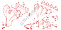 EXHAUST MANIFOLD (1) for Honda Cars PRELUDE 2.0I 2 Doors 5 speed manual 1993