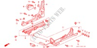 FRONT SEAT COMPONENTS (2) for Honda Cars PRELUDE 2.0I 2 Doors 5 speed manual 1993