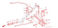FRONT STABILIZER/ FRONT LOWER ARM for Honda Cars PRELUDE DOHC VTEC 2 Doors 5 speed manual 1993