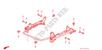 FRONT SEAT COMPONENTS (R.) (MANUAL SLIDE) for Honda Cars CIVIC 1.6ILS 5 Doors 5 speed manual 1995