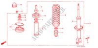 REAR SHOCK ABSORBER for Honda Cars CIVIC 1.6ILS 5 Doors 5 speed manual 1995