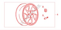ALLOY WHEEL 15X6JJ for Honda Cars CIVIC 1.4IS       L.P.G. 5 Doors 5 speed manual 1999