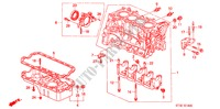 CYLINDER BLOCK/OIL PAN (SOHC) for Honda Cars CIVIC 1.4IS       L.P.G. 5 Doors 5 speed manual 1999
