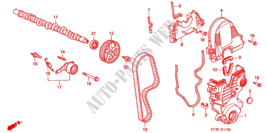 CAMSHAFT/TIMING BELT (SOHC) for Honda Cars CIVIC 1.4IS       L.P.G. 5 Doors 5 speed manual 1999