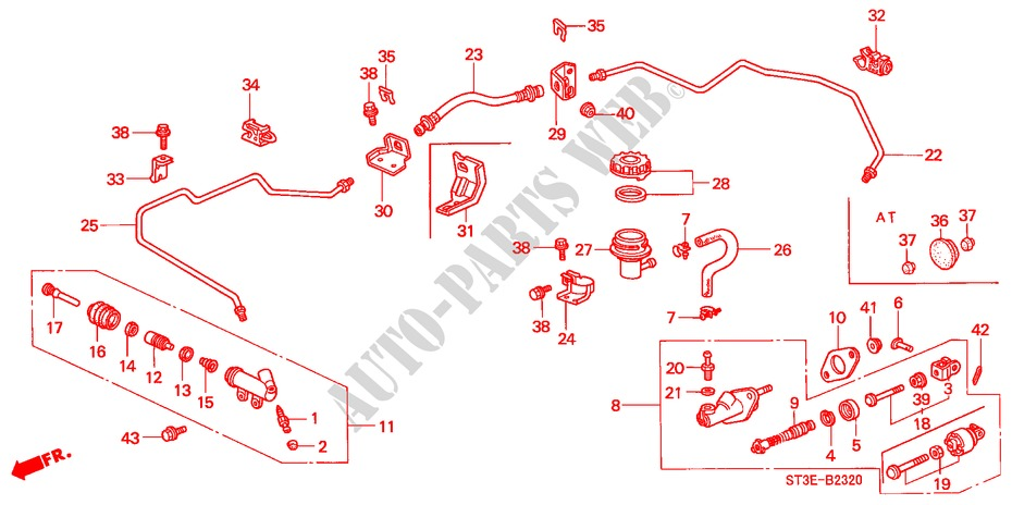 CLUTCH MASTER CYLINDER (LH) for Honda Cars CIVIC 1.4IS       L.P.G. 5 Doors 5 speed manual 1999