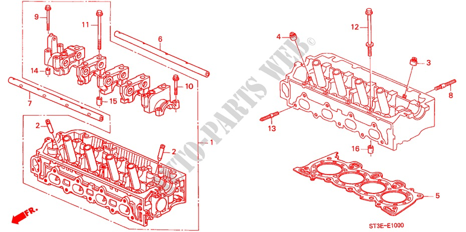 CYLINDER HEAD (SOHC) for Honda Cars CIVIC 1.4IS       L.P.G. 5 Doors 5 speed manual 1999
