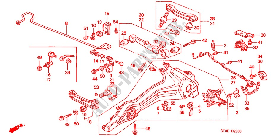 REAR STABILIZER/ REAR LOWER ARM for Honda Cars CIVIC 1.4IS       L.P.G. 5 Doors 5 speed manual 1999