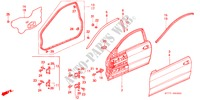 DOOR PANELS for Honda Cars INTEGRA TYPE R 3 Doors 5 speed manual 1998
