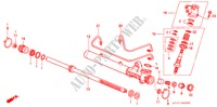 POWER STEERING GEAR BOX COMPONENTS (LH) for Honda Cars INTEGRA TYPE R 3 Doors 5 speed manual 1998