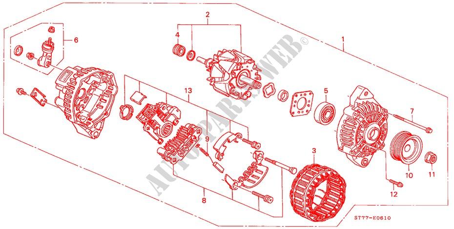 alternator mitsubishi engine type r 2000 integra honda cars honda rh parts honda uk Mitsubishi Alternator Wiring mitsubishi alternator specifications