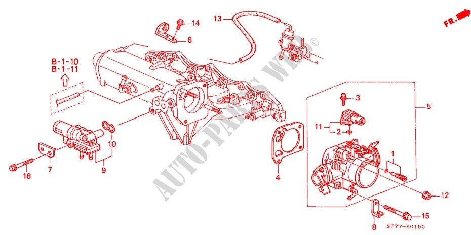 HONDA GENUINE Integra DC2 TYPE-R Shift Change Lever Holder Set