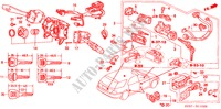 COMBINATION SWITCH (LH) ('96 ) for Honda Cars ACCORD AERODECK 2.2ILS 5 Doors 4 speed automatic 1996