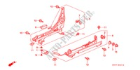 FRONT SEAT COMPONENTS (R.) for Honda Cars ACCORD AERODECK 2.2IES 5 Doors 5 speed manual 1994