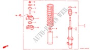 FRONT SHOCK ABSORBER for Honda Cars ACCORD AERODECK 2.0ILS 5 Doors 4 speed automatic 1995