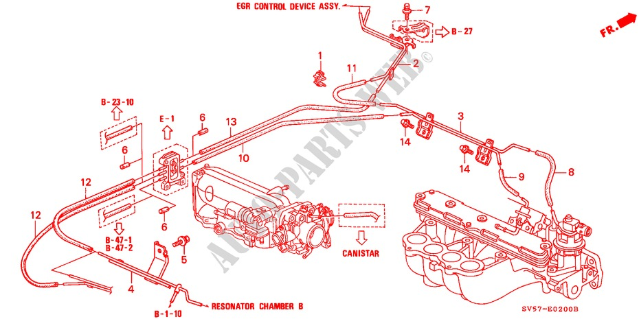 INSTALL PIPE/TUBING for Honda Cars ACCORD AERODECK 2.2IES 5 Doors 5 speed manual 1994