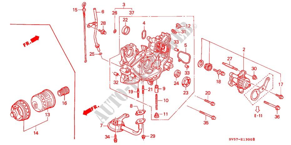 Oil Pump Oil Strainer Engine 22ies 1994 Accord Aerodeck