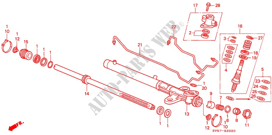 P.S. GEAR BOX COMPONENTS (LH) for Honda Cars ACCORD AERODECK 2.2IES 5 Doors 5 speed manual 1994