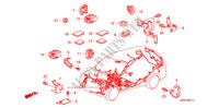 HARNESS BAND/BRACKET (LH) (2) ELECTRICAL EQUIPMENTS, EXHAUST, HEATER CR-V I-CTDI honda-cars 2007 2.2 EXECUTIVE B__0711