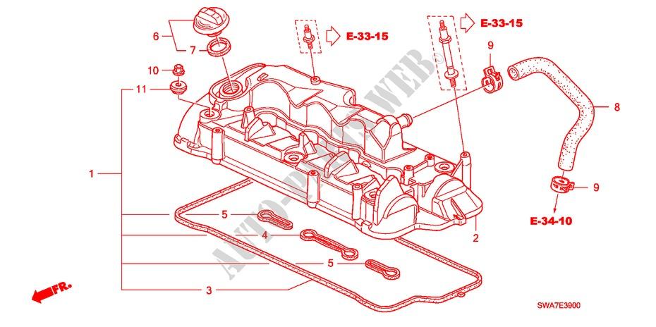 cylinder head cover diesel engine 22 executive 2008 cr v i. Black Bedroom Furniture Sets. Home Design Ideas