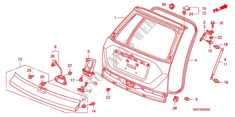 30 2008 Honda Crv Body Parts Diagram