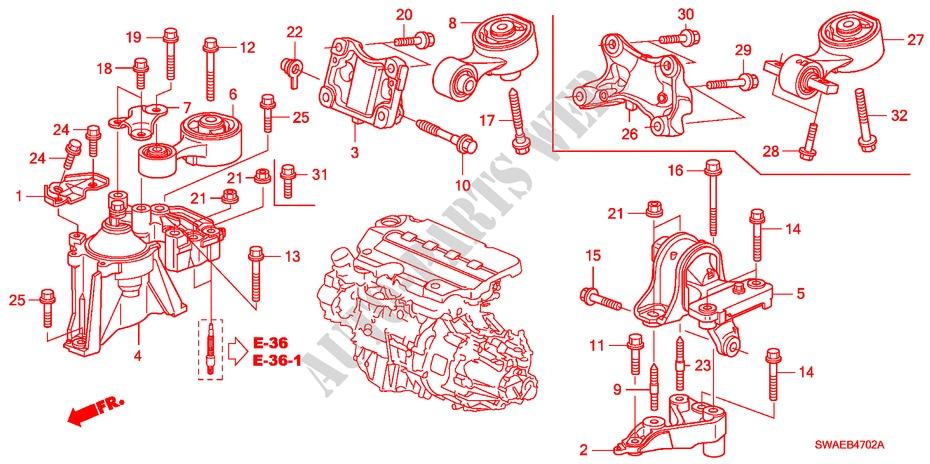 honda cars cr-v i-ctdi 2009 2 2 executive 6 speed manual body parts