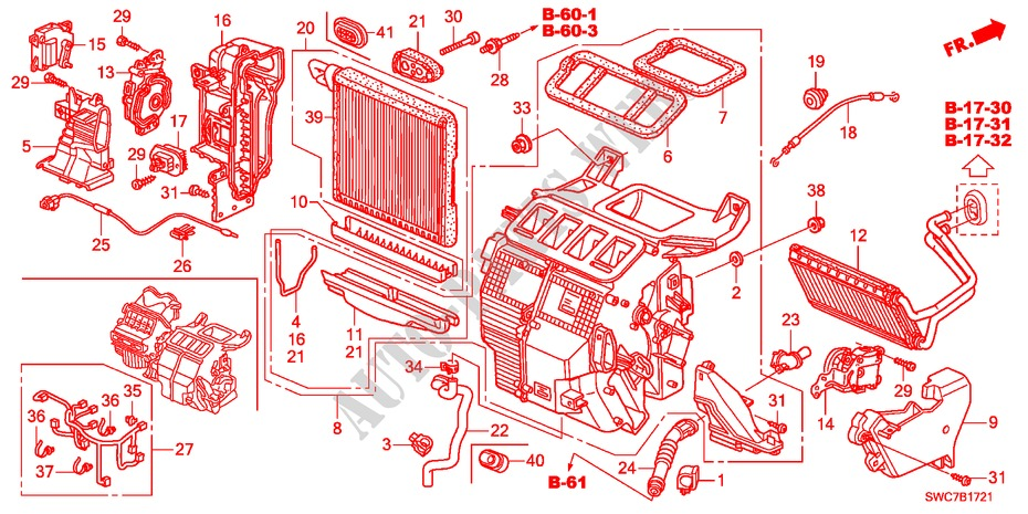 Heater Unit Rh Electrical Equipments Exhaust Heater Ex 2011 Cr V Honda Cars   Honda Cars