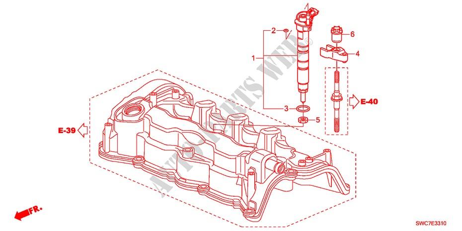 injector(diesel) for honda cars cr v i dtec 2 2 executive 5 doors 6 Honda Electrical Schematic