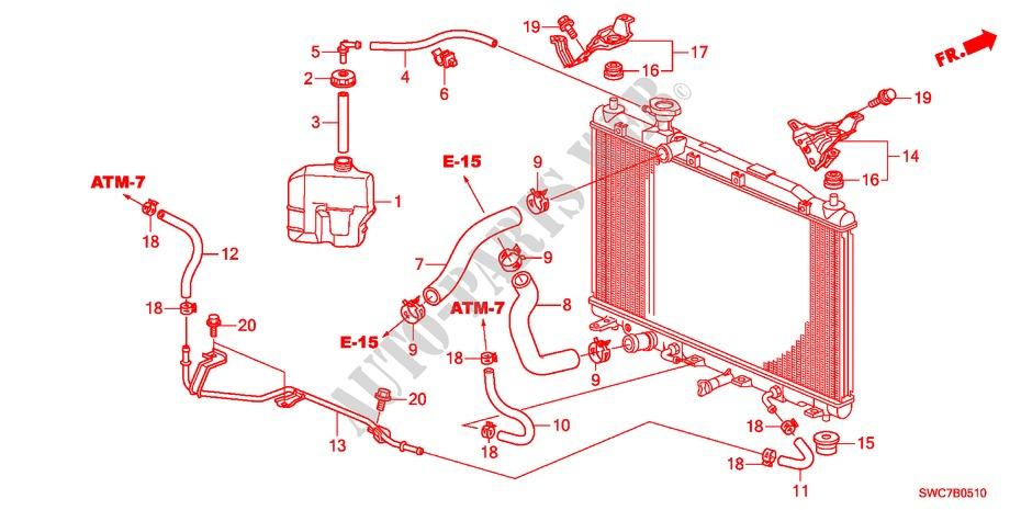 Radiator Hose Reserve Tan K 20l Electrical Equipments Exhaust Heater Ex 2011 Cr V Honda Cars