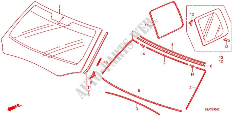 Genuine Honda Side Molding 73162-SZA-A01ZA