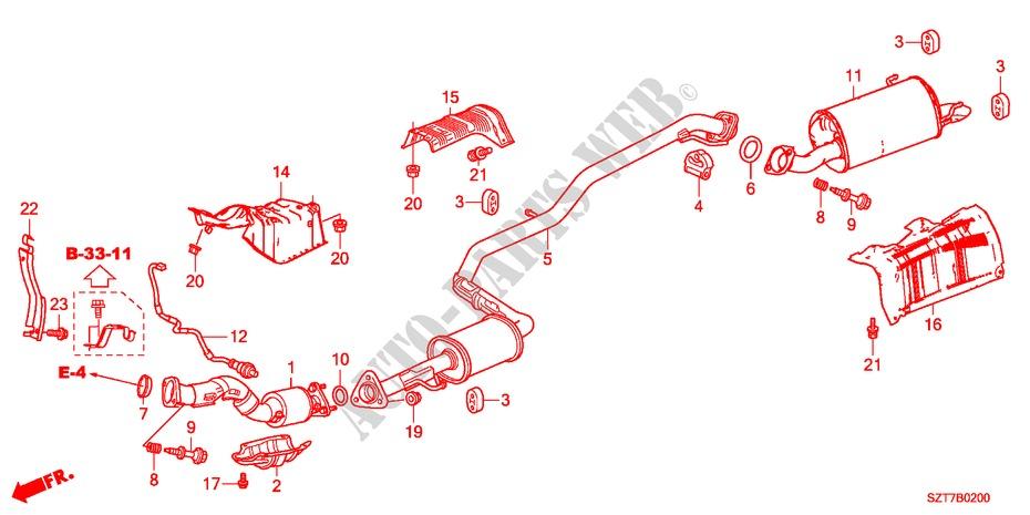 Genuine Honda 74600-TF0-000 Floor Heat Baffle Plate Exhaust Pipes ...