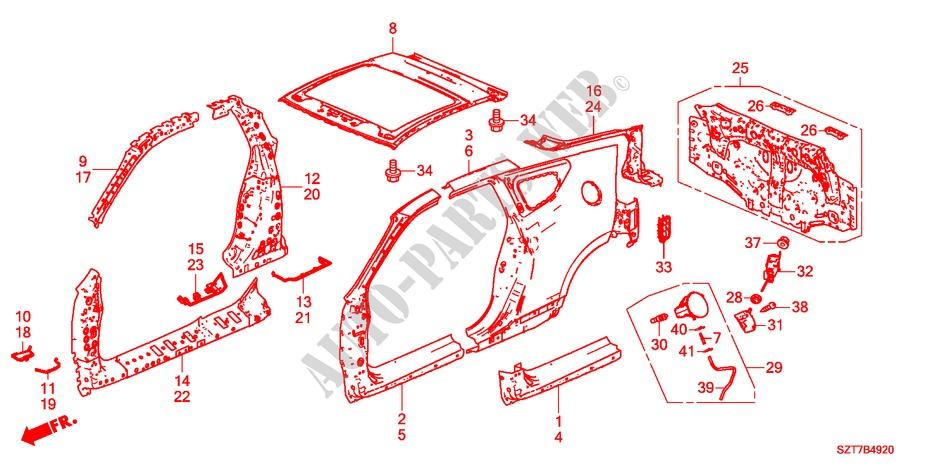 Pillar Gutter Genuine Honda 63320-SAA-G01ZZ